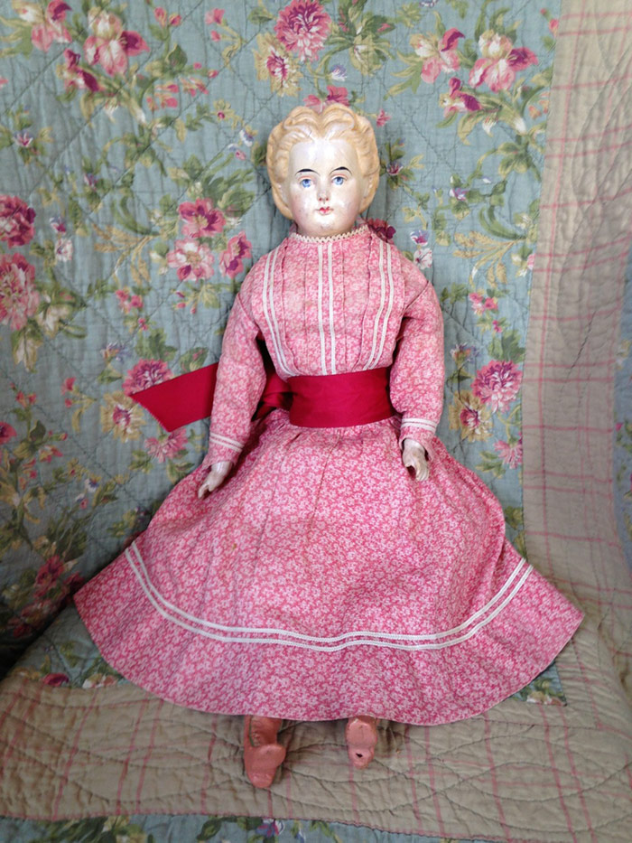 Kathy Schoemer Antiques - Cloth Doll - Louisa's Doll