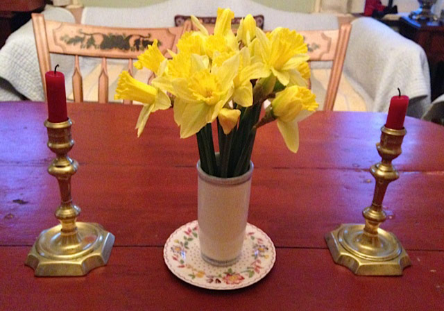 Kathy Schoemer - Table with Daffodils