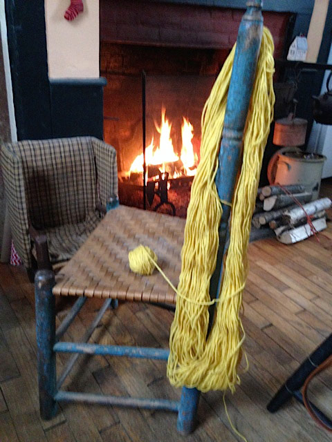 Winter Fire and Yarn